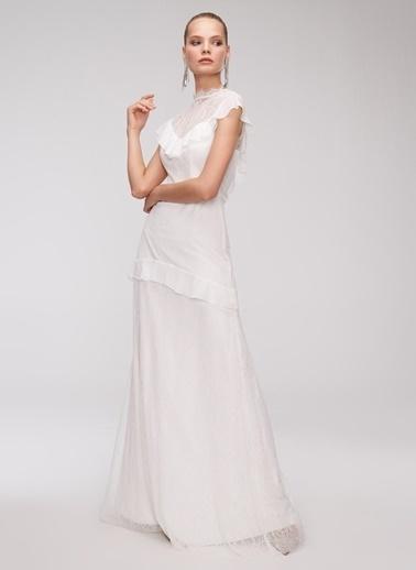 People By Fabrika Elbise Beyaz